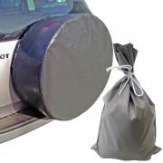 Sandsäcke und Reserverad-Schutzhüllen