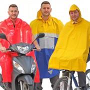 Radfahrer- und Rollerfahrer-Regenschütze