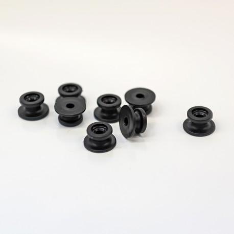 Rundknopf Kunststoff schwarz