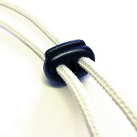 Kordelstopper schwarz für 4-mm-Kordel