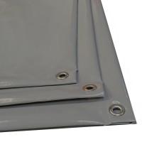 AKTION: Blache 3 x 2 m aus TREVIRA NOVO hellgrau / steingrau / dunkelgrau (ca. 660 g/m2)