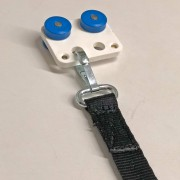 Vorhangdoppelrolle mit Stahlkugellager und Schlitz mit angenähtem Gurtband